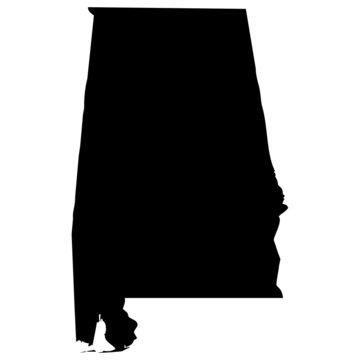High detailed vector map - Alabama.