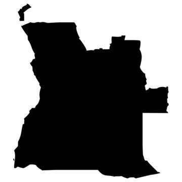 High detailed vector map - Angola.