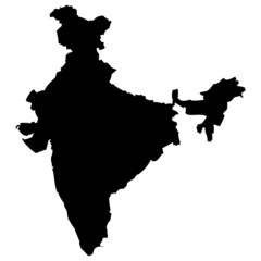 Fototapeta High detailed vector map - India. obraz