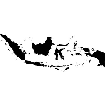 High detailed vector map - Indonesia.
