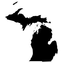 High detailed vector map - Michigan.