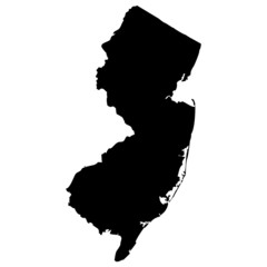 High detailed vector map - New Jersey.