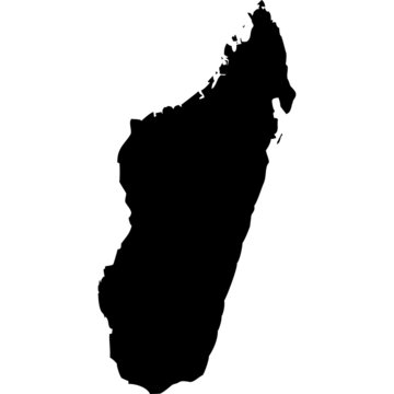 High detailed vector map - Madagascar.