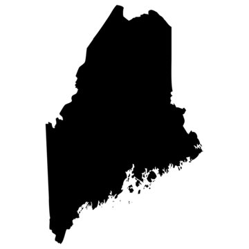 High detailed vector map - Maine.