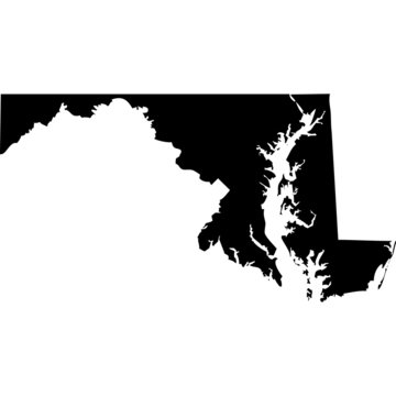 High detailed vector map - Maryland.
