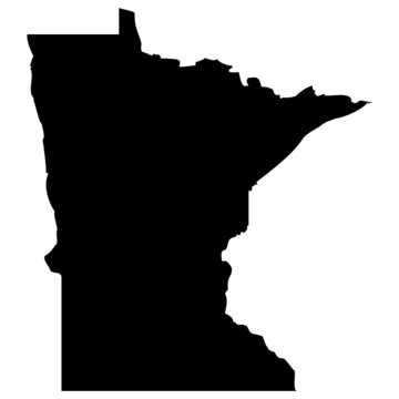 High detailed vector map - Minnesota.