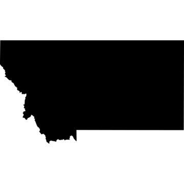 High detailed vector map - Montana.