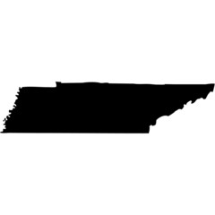 High detailed vector map - Tennessee.