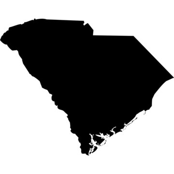 High detailed vector map - South Carolina.