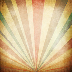 Poster de jardin Retro Vintage Sunbeams Background