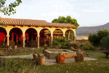 Southwestern Hacienda at Sunrise