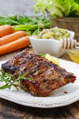 Ribs with honey