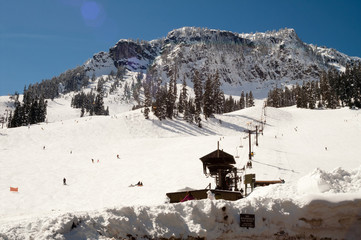 Ski Lift Snow Skiing Slopes North Cascades Summit Snoqualmie