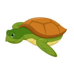 Sea Turtle Swiming Cartoon