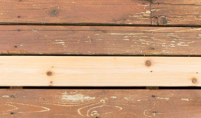 New and Old Wooden Boards