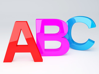 ABC Letters.  Education concept. 3d illustration