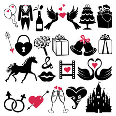 Wedding Design Vector icons for Web and Mobile