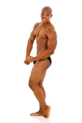 professional african american male bodybuilder