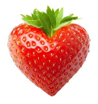 Red berry strawberry heart shape