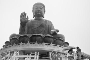 large bronze statue of Buddha