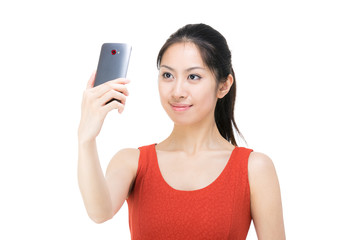 Asian woman selfie