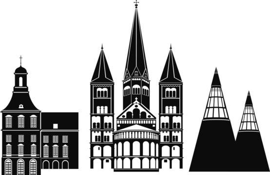 Bonn_Deutschland_Skyline_Silhouette