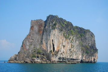 stone mountain island in south of thailand