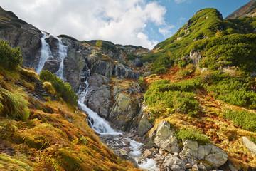 Obraz The Great Siklawa Waterfall. High Tatra Mountains, Carpathians. - fototapety do salonu