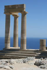 Lindos Acropolis Rhodes Island Dodecanese Greece 12
