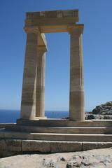 Lindos Acropolis Rhodes Island Dodecanese Greece 13