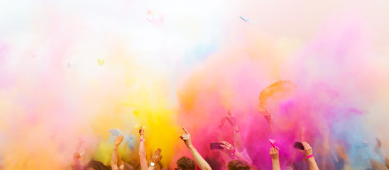 Colorful holi Party