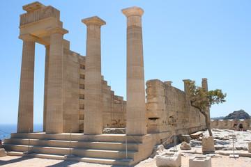 Lindos Acropolis Rhodes Island Dodecanese Greece 17