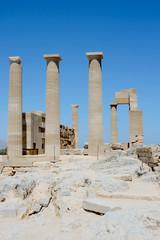 Lindos Acropolis Rhodes Island Dodecanese Greece 28