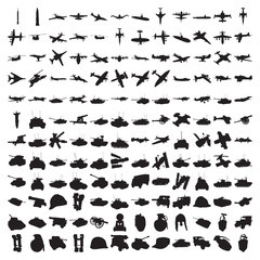 Hundred Military Silhouettes