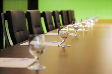 Wall Mural - The boardroom table is set for the Annual General Meeting
