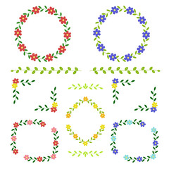 花の飾り枠セット / vector eps