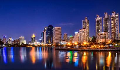 Light evening in Bangkok