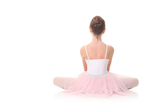 girl dressed as a ballerina