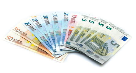 Composition of euro banknotes