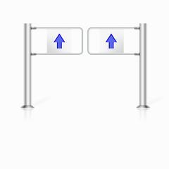 Illustration of turnstile