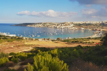 Wall Mural - Afternoon view of the Mellieha Bay, Malta