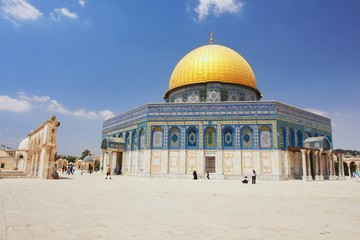 View of Dome of the rock in Jerusalem, Israel