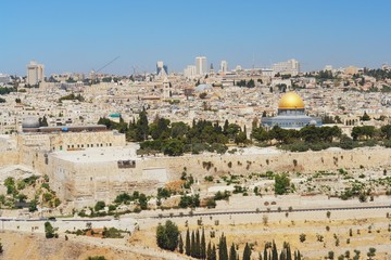 View from mount of olives to Jerusalem, Israel
