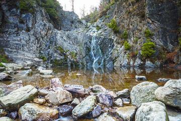 Wasserfall eines Wildbachs im Hohen Venn