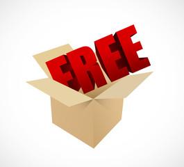 free box sign illustration design