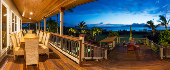 Deck with Sunset View