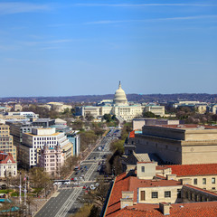 Wall Mural - Washington DC, skyline with Capitol building and other Federal b