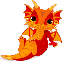 Cute baby dragon