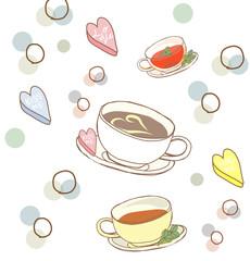 カフェのイラスト背景イメージ