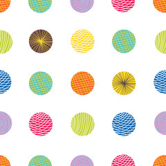 Polka dot. Vector seamless pattern.